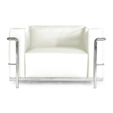 Roche Chair, Cream White Aniline Leather