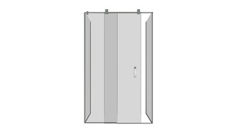 "Glass Shower Stall With Sliding Door and Silicone Handle, 39""x35"""