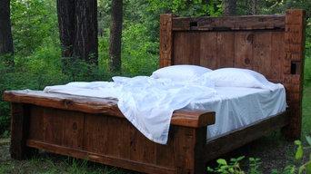 Custom Reclaimed Hand Hewn Bed