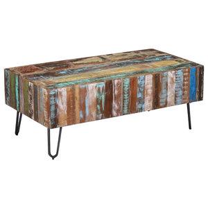 vidaXL Solid Reclaimed Wood Coffee Table, 100x50x38 cm