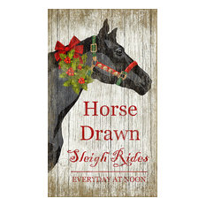 Christmas Horse Sign