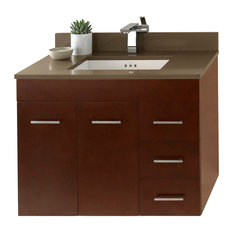 """Ronbow 31"""" Bella Solid Wood Wall Mount Vanity Set With Ceramic Undermount Sink"""