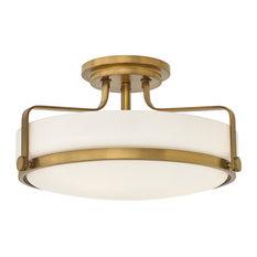 Hinkley Harper 3643Hb Large Semi-Flush Mount, Heritage Brass