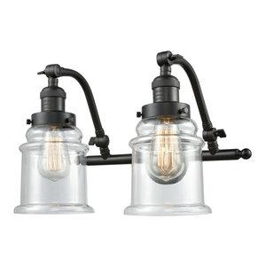 "Innovations Lighting 515-2W Canton Canton 2 Light 18"" Wide Bathroom Vanity Ligh"