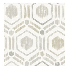 Borneo Light Grey Geometric Grasscloth Wallpaper Bolt