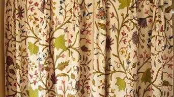 Crewel Fabrics Drapes and Curtains