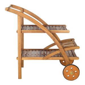 Safavieh Malibu Outdoor Tea Cart, Teak Brown