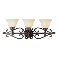 Manor 3-Light Bath Vanity Sconce, Oil Rubbed Bronze