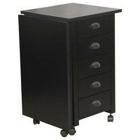 Mobile Desk and Craft Table, Black
