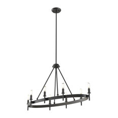 Cambrai 8-Light Linear Chandelier, Graphite