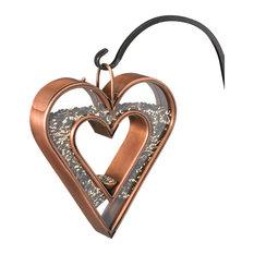 Good Directions Heart Fly-Thru Bird Feeder, Venetian Bronze