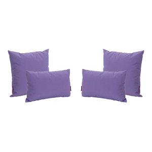 Arabesque Violet Round Bolster Pillow Cushion Outdoor Water Resistant Garden