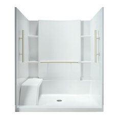 "Sterling  Accord 36""x60""x74.5"" Vikrell Alcove Shower Kit, White"