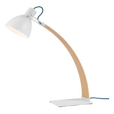 Laito Wood Table Lamp, White