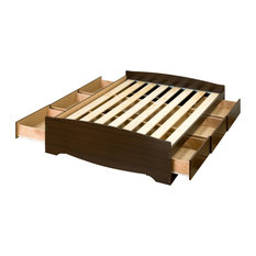 Mate's Platform Storage Bed, Espresso, Full, With 6 Drawers