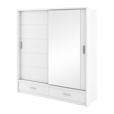 Lugo 2-Door Sliding Wardrobe, Matte White