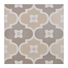"7.88""x7.88"" Piccola Porcelain Floor and Wall Tiles, Bowtie, Pastel"
