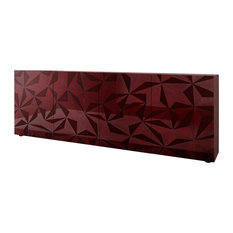 Prisma II Decorative Sideboard, 241 cm, Red