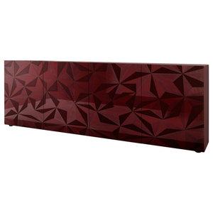 Prisma II Decorative Sideboard, 241 cm, Red