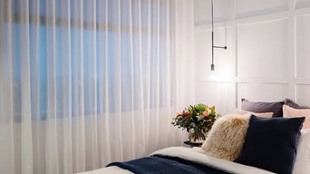 Wavefold sheer curtains