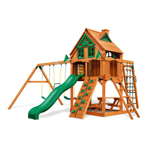 gorilla playsets mountaineer treehouse swing set fort add on and timber shield contemporary. Black Bedroom Furniture Sets. Home Design Ideas