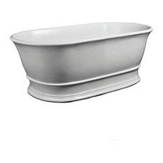 Bampton Bath 1555 mm Freestanding Polished White Tub
