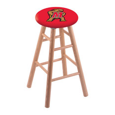 Oak Counter Stool Natural Finish With Maryland Seat 24-inch