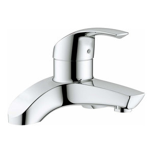 Modern Bath Filler, Solid Brass With Chrome Plated Finish, Simple Design