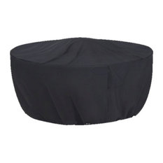 Oriflamme Gas Fire Pit Table Weather Protective Cover, Black, 48""