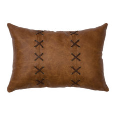 Leather Pillow 12x18-Leather Back