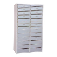 Double Wide Tall Kit X, White Cabinet With White Drawers