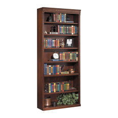 "Martin Furniture Huntington Oxford 84"" Open Bookcase (Burnish)"