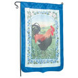 "Flag Blue Nylon Rooster 29""x43"" No Pole"