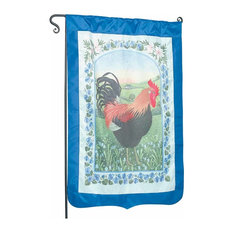 """Flag Blue Nylon Rooster 29""""x43"""" No Pole"""