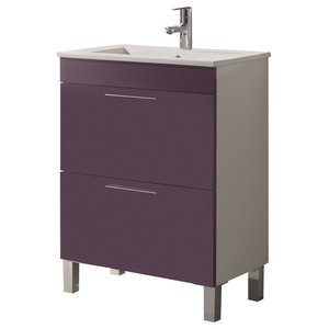 Dekor 60 Bathroom Vanity Unit, 60x45 cm, Purple Gloss