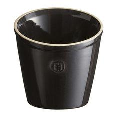 Emile Henry Charcoal Ceramic 5.5 Inch Utensil Pot