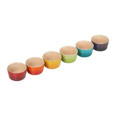 Le Creuset Stoneware 6-Piece Set Rainbow Mini Ramekins