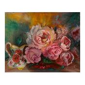 """Roses and Cream"" Original Wall Art by Jenny Lee Jonah"