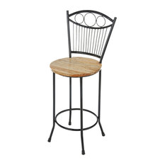 joseph allen french country iron and wood bar stool bar stools and counter stools - Wrought Iron Bar Stools