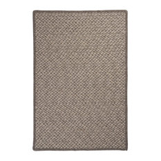 "Natural Wool Houndstooth Rug, Latte 2'x3', Gray, 8""x28"""
