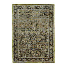 "Andorra Antiqued Traditions Green and Brown Area Rug, 8'6""x11'7"""