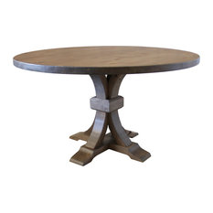 Violet Hardwood Round Table Charred Ember Finish 60-inch Round