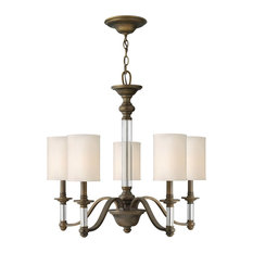 Hinkley Sussex 5-Light English Bronze Drum Shade Chandelier