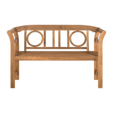 Safavieh Moorpark Indoor/Outdoor 2 Seat Bench, Teak