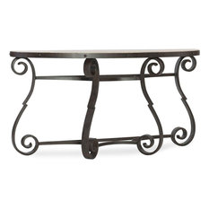 Hooker Furniture Hill Country Metal and Stone Demilune Console