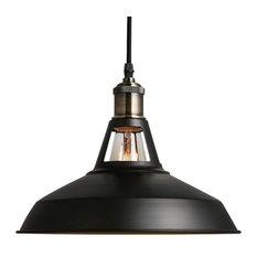 retro lighting pendants. 1light pendant retro industrial lighting black paint metal aluminum pendants i