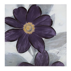 Midnight Bloom Plum Hand Embellished Canvas
