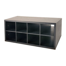 Organized Living freedomRail Double Hang O-Box Cubby, Midnight Live