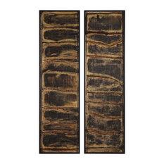 Uttermost Wilderness David Frisch Canvas And Pine Wood Set Of 2 Wall Art 36050