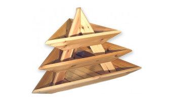 Raised Cedar Planter 3-Level Triolife Plant Pyramid